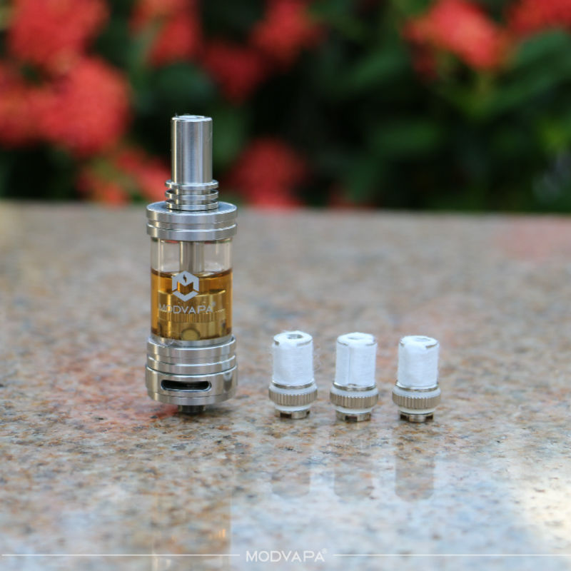 MODVAPA low cost-in-use glass tank atomizer vertical coil 2015 new rebuildable vape tank