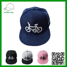 2016 fashion mulit color simple pattern 3D embroidery 6 panel snapback caps for wholesale
