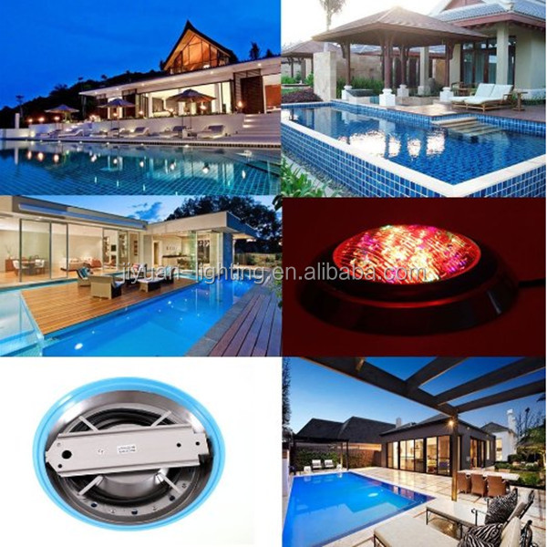 solar powered underwater lights G53 IP68 18w 120degree RGB par56 pool light lamps