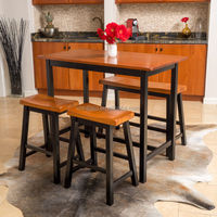 Bar funiture/Dining room furniture 4-piece and one table Wood Dining Set
