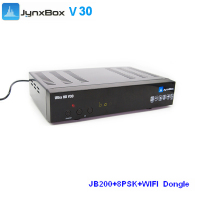 free wifi dongle NEW jynxbox ultra v30 digital satellite receiver free to air for Nouth america