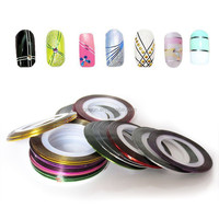 new arrived nail sticker Nail Rolls Striping Tape Line nail adhesive tape for decoration