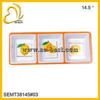 SECTION TRAY SETS 3-SECTION; 14.5 INCH PLASTIC SECTION TRAYS
