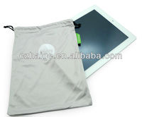 microfiber eyewear pouch with drawstring customed design