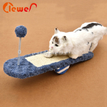 Custom Pet Seesaw Scratcher Cat Toy With Plush Ball