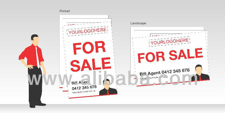 Real Estate Corflute(Printed in Australia) size600x900mm