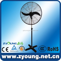 Adjustable height industrial stand fan 2 blades with CE TUV approved