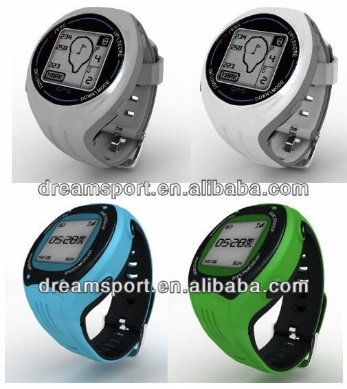 Best New Fashionable GPS golf watch/golf gps watch/ golf counter watch with score and range