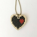 Wooden two hearts pendant for decoration