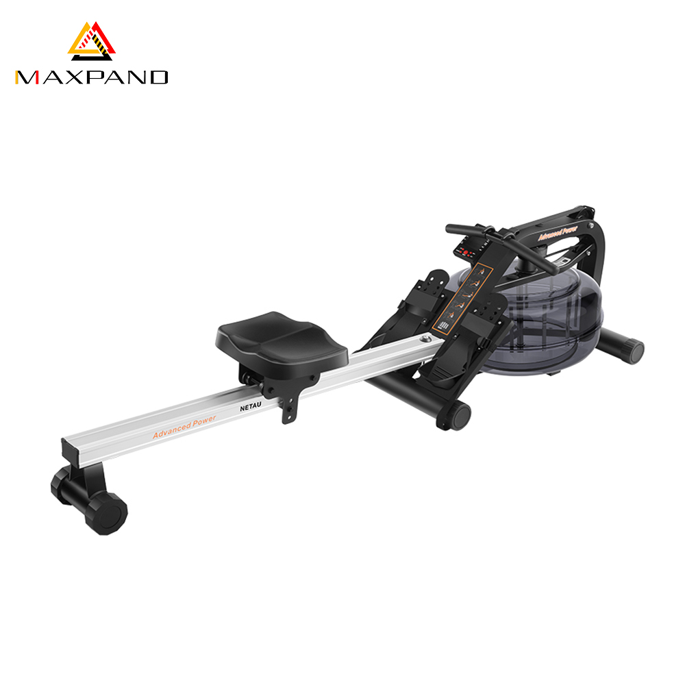 Maxpand OEM Indoor Gym Fitness Equipment Mental Water Rower Rowing Machine with Monitor