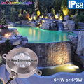 IP68 6W Embedded Stainless Steel Swimming Pool Led Underwater Light