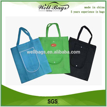 promotional eco foldable non woven bag , folding shopping bag