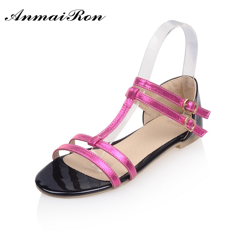 latest lady shoes cheap wholesale buckle srap fashion new design colourful suede flat sandals