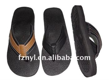 leather beach shoes flip flop manufacturer- FZNYL