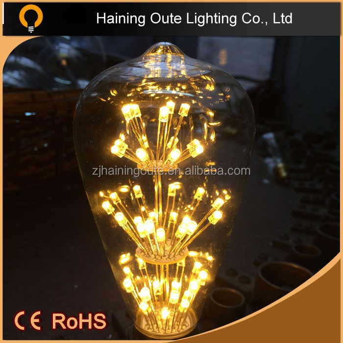 Low lumen output 1.8w 360 degree led Filament bulb light china,LED Decorative Starts E27