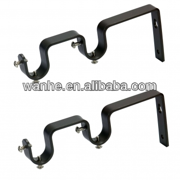 Metal/iron curtain rod bracket for window and home decro