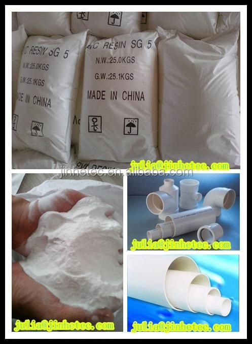 PVC RESIN SG5 K67 pvc resin for prressure and waste pipes