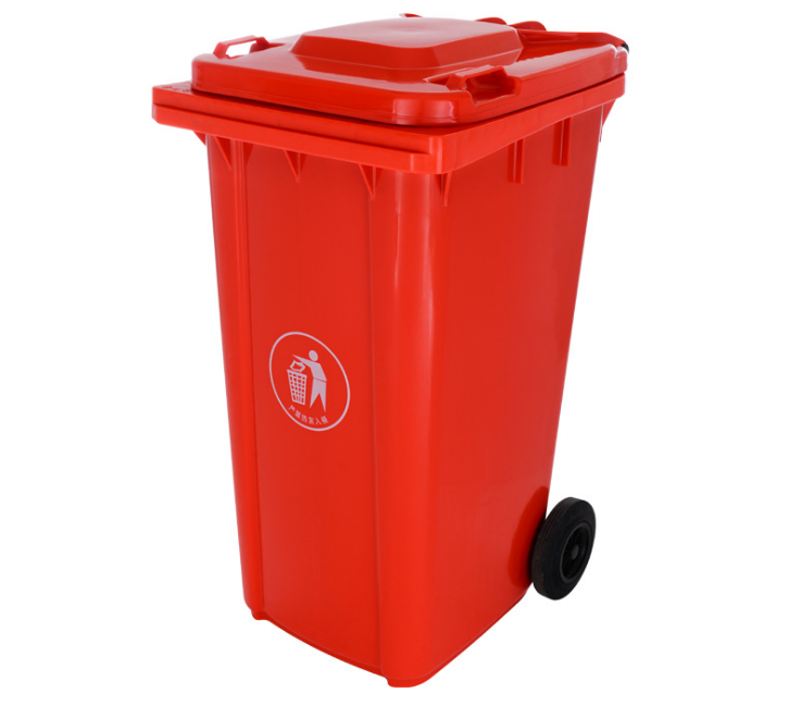 clear plastic garbage cans