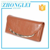 Advantage price genuine leather wallet with flap