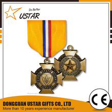 China Manufacturer Quality Custom Military Iron Cross Medal Ribbon