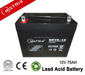 High quality 12v 75ah capacity stationary agm deep cycle battery prices