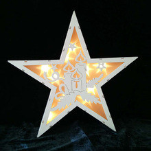 New style mini christmas/halloween/easter rustic star marquee light