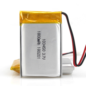 high quality Lithium Polymer Standard charge Current 360mA 3.7v lipo battery