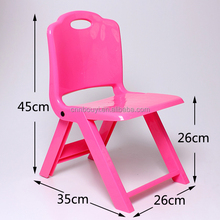 High quality colorful school kid's plastic folding stool