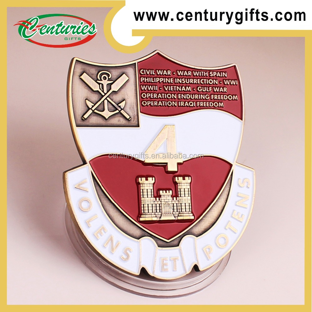 Special shapes custom challenge coin, antique gold palting, come and take it, other designs are available