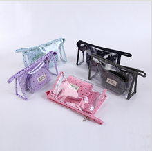 Free sample makeup bag new arrival high quality trasparent PVC cosmetic bag