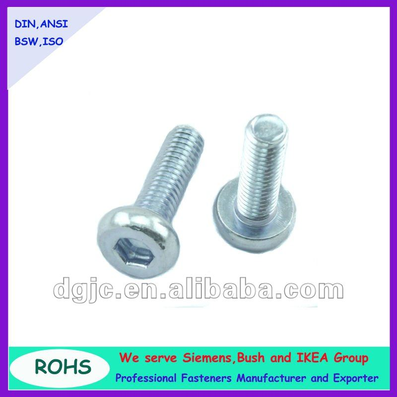 carbon steel plated zinc hex socket head small connecting bolt