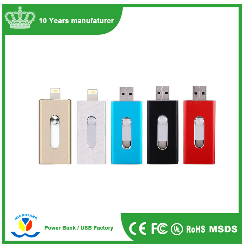 Auto drive usb flash Android otg 3in1Usb Pen Flash Drive Wholesale For phone Cellphones Pc Computer Laptop