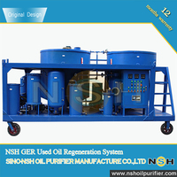 NSH GER series Engine Oil Recycling Plant/Used Black Motor Oil Recovery System