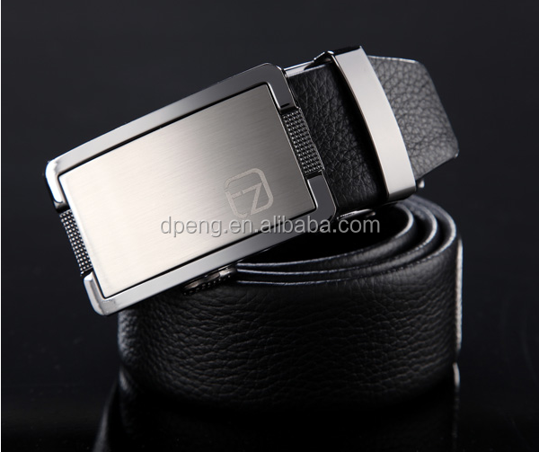 Wholesale customed fashion brown pu leather belt mens oem