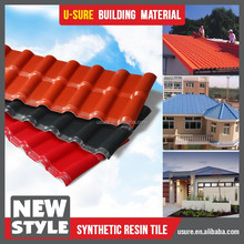 Spanish style heat insulation synthetic resin plastic roofing shingle
