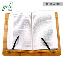 Multipurpose Bamboo Wood laptop holder and Reading Book Holder