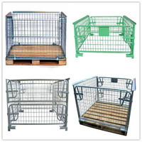 Galvanized Metal Foldable Cage Pallet For