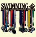 SWIMING medal holder Iron medal hanger Sport medal display hanger