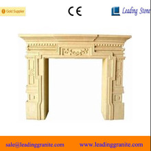 Popular Yellow Sandstone Stand Fireplace