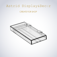 Portable Perspex Merchandise Display Case with With Magnet Flip Cover