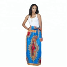Elegant sleeveless print batik materials cheap women long dress