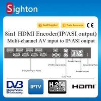 professional HD audio & video encoding and multiplexing device h 264 iptv encoder