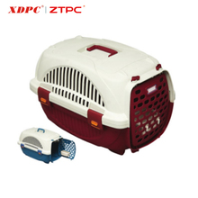 New style moveable pet transport plastic animal travelling cage