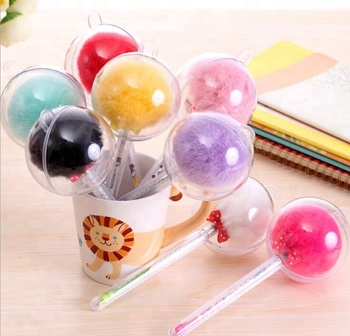 Promotional feather fluffy decorative gift ball point pen