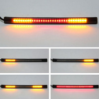 Flexible drl motor 48 LED Motorcycle Car Tail Turn Signal Brake Stop Lamp Strip Light