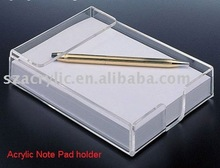 Acrylic note pad holder
