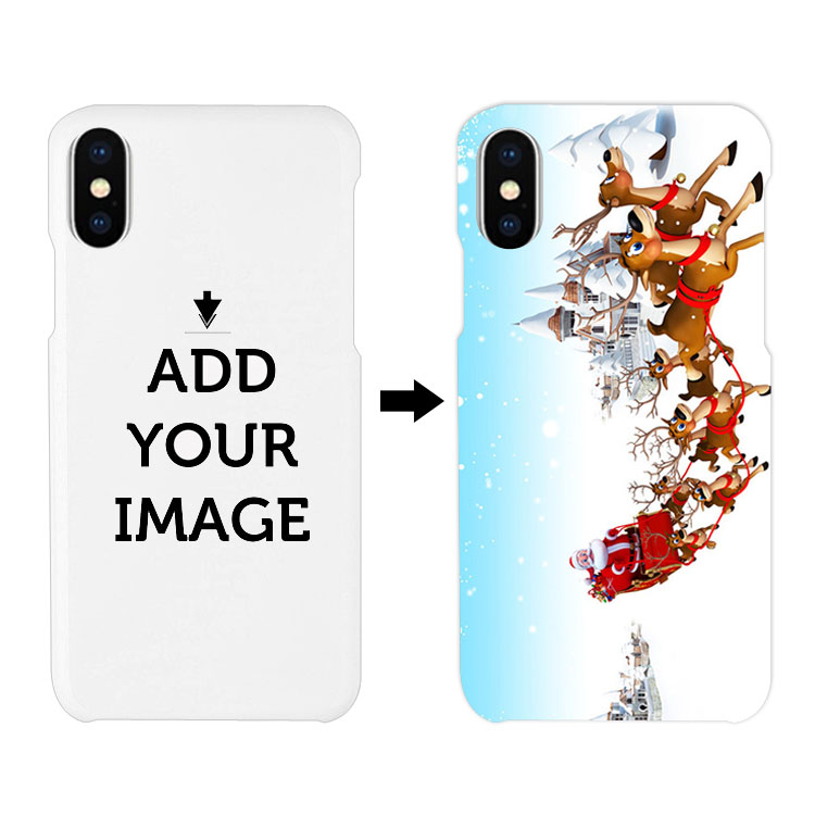ikfcase 10pcs custom 3D Printable Sublimation polymer printable hard blank phone case for iPhone X