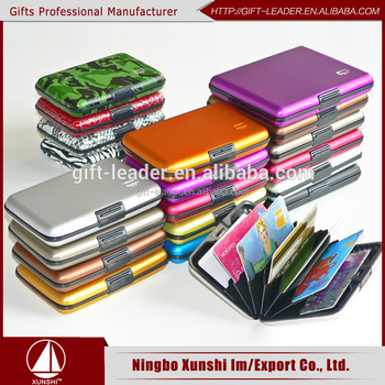 2016 HOT sales promotional business name aluminum credit card holder