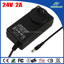 Kema keur AC adapter 24V 2A universal power supply for tv