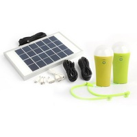 New products usb port portable home solar lighting system